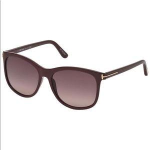 Accessories - Tom Ford Fiona Burgundy sunglasses